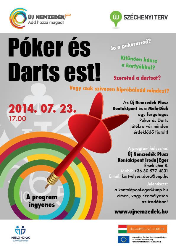 Póker és Darts est!