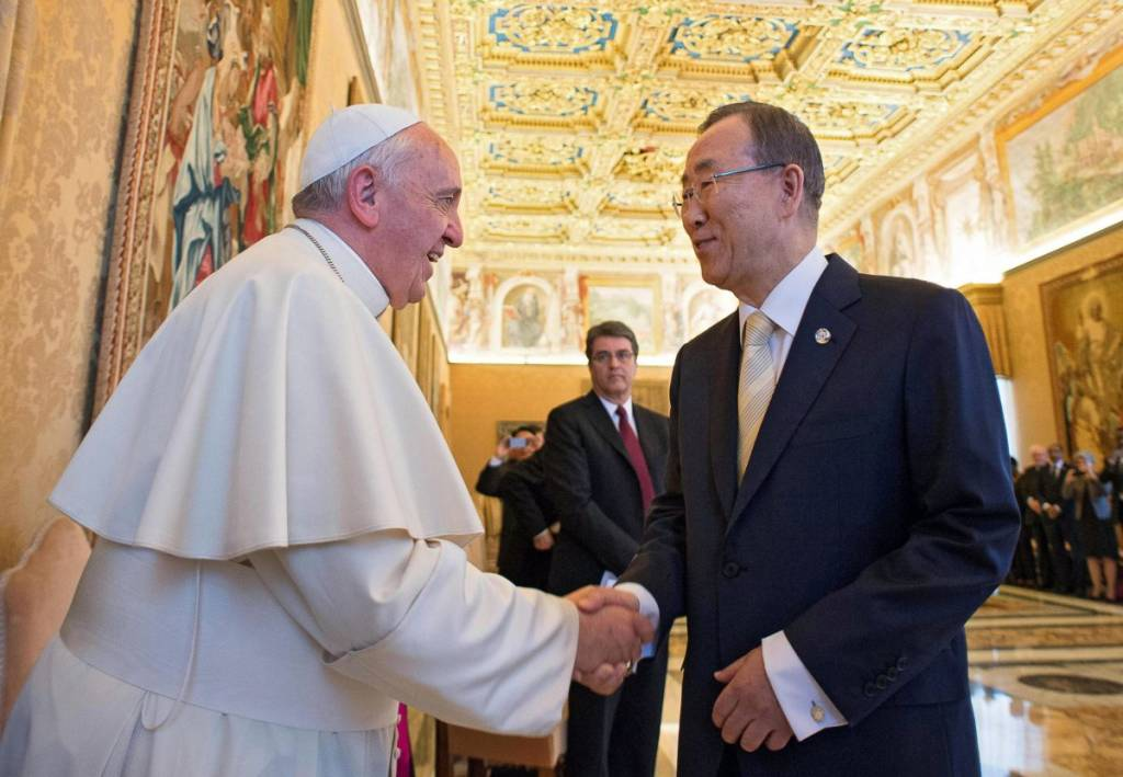 Ferenc pápa az ENSZ-főtitkárnál nemzetközi fellépést sürgetett Irakban