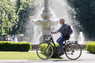 Kerékpározás az Érsekkertben - Fotó: Nemes Róbert