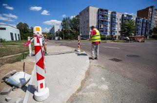 Folyamatos a felsővárosi kereszteződések akadálymentesítése - Fotó: Berán Dániel