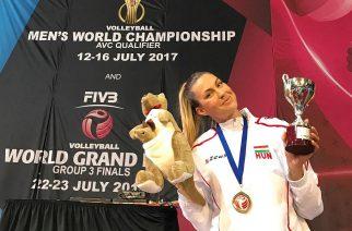 Megnyerte a World Grand Prix harmadik vonalát a magyar női röplabda-válogatott, miután 3:0-ra legyőzte a házigazda Ausztráliát a canberrai fináléban. (Fotó: Dobi Edina, 2017.07.27.)