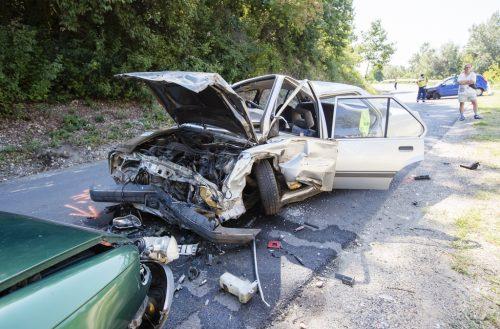 Hármas baleset történt Egerszalók és Demjén között - Fotó: Nemes Róbert