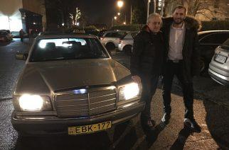 Bernát György, Kiss Norbi és a nem mindennapi autó (Fotó: formula.hu)