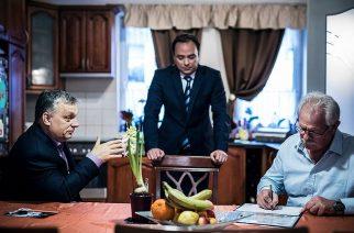 Egri családoknál gyűjtött aláírásokat Orbán Viktor
