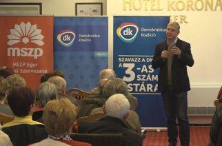 Gyurcsány Ferenc a DK egri kampányzáróján