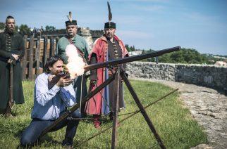 Szécsi Zoltán az egri várban pontban 15.52-kor. Fotó: Nemes Róbert