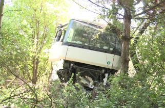 Kamionbaleset az M3-ason. Karcolásokkal megúszta a sofőr