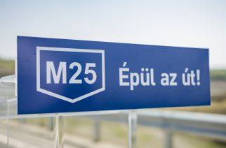 A tervek szerint halad az M25-ös gyorsforgalmi út építése