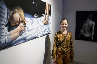 A Maticska Jenő-díjban részesült Czene Márta festőművész MTI Fotó: Komka Péter