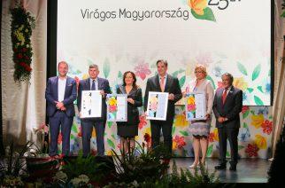 """Egeré a 25 éves """"Virágos Magyarország"""" verseny jubileumi díja és az internetes szavazás első helye!"""