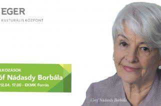Gróf Nádasdy Borbála írónő tart előadást a Forrásban