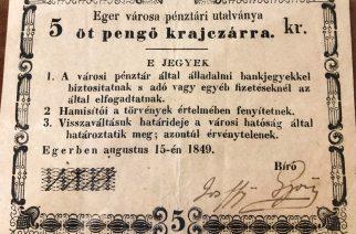 Öt pengő krajcár – különleges ajándékot kapott Eger