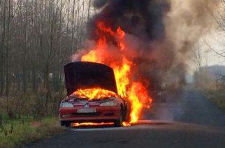 Gépjármű lángolt Andornaktályán