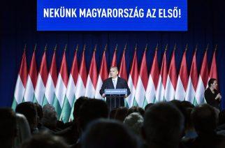 Budapest, 2019. február 10. Orbán Viktor miniszterelnök hagyományos évértékelõ beszédét tartja a Várkert Bazárban 2019. február 10-én. MTI/Koszticsák Szilárd