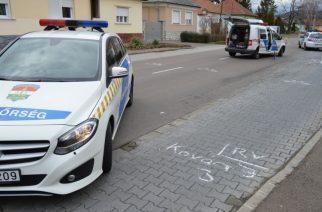 Baleseti helyszínelés, Felnémeten (fotó: police.hu)