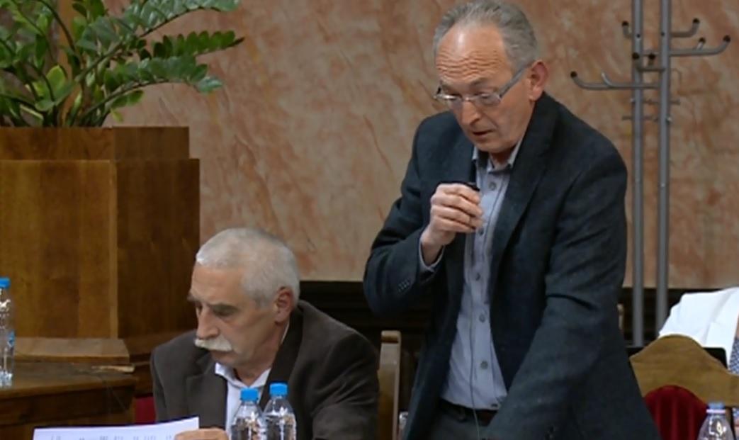 Tóth István a közgyűlésben
