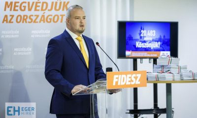 Több mint húszezer aláírást gyűjtött össze a Fidesz Heves megye 1. sz. választókerületében